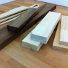 preparing the walnut, maple and fir wood for the series