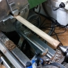 turning the walnut rod for the neck pieces