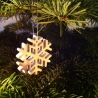 SNOW STAR - on the christmas tree