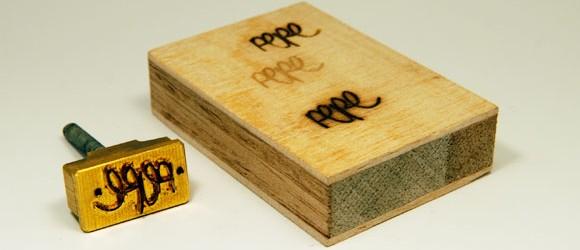 wood branding stamp